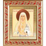 Преподобномученица великая княгиня Елисавета, икона в рамке с узором - Иконы
