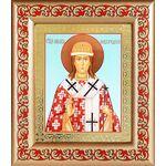 Святитель Никита Новгородский, икона в рамке с узором - Иконы