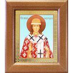 Святитель Никита Новгородский, икона в широкой рамке 14,5*16,5 см - Иконы