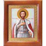Благоверный князь Александр Невский, икона в рамке 12,5*14,5 см - Иконы