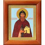 Благоверный князь Даниил Московский, икона в рамке 8*9,5 см - Иконы