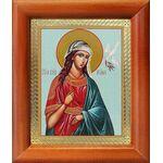 Великомученица Ирина Македонская, икона в рамке 8*9,5 см - Иконы