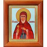 Преподобная Мелания Римляныня, икона в деревянной рамке 8*9,5 см - Иконы