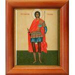 Мученик Севастиан Римский, икона в рамке 8*9,5 см - Иконы