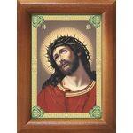 Спаситель в терновом венце, икона в рамке 7,5*10 см - Иконы