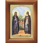 Преподобные Зосима и Савватий Соловецкие чудотворцы, рамка 7,5*10 см - Иконы