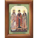 Святые Черниговские, икона в деревянной рамке 7,5*10 см - Иконы