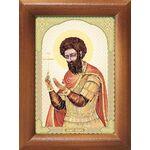 Великомученик Феодор Стратилат, икона в рамке 7,5*10 см - Иконы