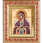Икона Божией Матери «Семистрельная», в рамке с узором 14,5*16,5 см - Иконы