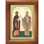 Равноапостольные Кирилл и Мефодий, икона в рамке 7,5*10 см - Иконы
