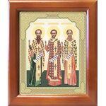 Собор трех святителей, икона в рамке 12,5*14,5 см - Иконы