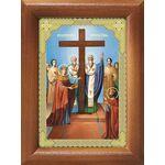 Воздвижение Честного Креста Господня, икона в рамке 7,5*10 см - Иконы