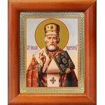 Святитель Николай Мирликийский Чудотворец, рамка 8*9,5 см - Иконы