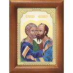 Святые первоверховные апостолы Петр и Павел, икона в рамке 7,5*10 см - Иконы