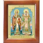 Николай Чудотворец и Алексий Московский, икона в рамке 12,5*14,5 см - Иконы