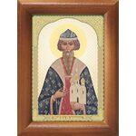 Благоверный князь Всеволод Новгородский, икона в рамке 7,5*10 см - Иконы