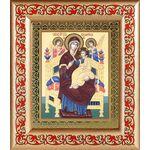"""Икона Божией Матери """"Всецарица"""", рамка с узором 14,5*16,5 см - Иконы"""