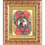 """Икона Божией Матери """"Неопалимая Купина"""", в рамке с узором 14,5*16,5 см - Иконы"""