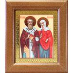 Священномученик Киприан и мученица Иустина, широкая рамка 14,5*16,5 см - Иконы