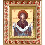 Покров Пресвятой Богородицы, икона в рамке с узором - Иконы