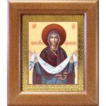 Покров Пресвятой Богородицы, широкая рамка 14,5*16,5 см - Иконы