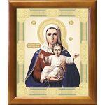 """Икона Божией Матери """"Аз есмь с вами и никтоже на вы"""", рамка 20*23,5 см - Иконы"""