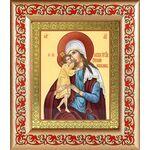 """Икона Божией Матери """"Взыскание погибших"""", в рамке с узором 14,5*16,5см - Иконы"""