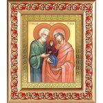 Праведные Иоаким и Анна, икона в широкой рамке с узором 14,5*16,5 см - Иконы