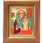 """Икона Божией Матери """"Неувядаемый Цвет"""", в широкой рамке 14,5*16,5 см - Иконы"""