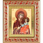 Иверская икона Божией Матери, широкая рамка с узором - Иконы