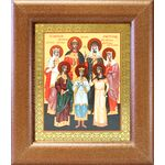 Святые царственные страстотерпцы, икона в широкой рамке 14,5*16,5 см - Иконы