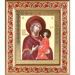 Тихвинская икона Божией Матери, широкая рамка с узором - Иконы