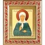 Святая Блаженная Матрона Московская, икона в широкой рамке с узором - Иконы