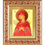 """Икона Божией Матери """"Умягчение злых сердец"""", рамка с узором 14,5*16,5 - Иконы"""