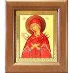 """Икона Божией Матери """"Умягчение злых сердец"""", рамка 14,5*16,5 см - Иконы"""