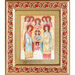 Собор Архангела Михаила, икона в широкой рамке с узором 14,5*16,5 см - Иконы