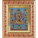 """Икона Божией Матери """"Знамение"""" Курская-Коренная, рамка с узором - Иконы"""