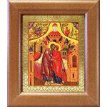 Зачатие Пресвятой Богородицы, икона в широкой рамке 14,5*16,5 см - Иконы