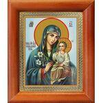 """Икона Божией Матери """"Неувядаемый Цвет"""", рамка 8*9,5 см - Иконы"""