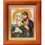Благоверные князья Петр и Феврония Муромские, рамка 8*9,5 см - Иконы