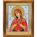 Икона Божией Матери «Семистрельная», деревянная рамка 17,5*20,5 см - Иконы