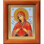Икона Божией Матери «Семистрельная», деревянная рамка 8*9,5 см - Иконы