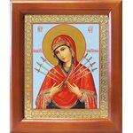Икона Божией Матери «Семистрельная», деревянная рамка 12,5*14,5 см - Иконы