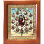 Древо Пресвятой Богородицы, икона в рамке 12,5*14,5 см - Иконы