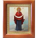 Покров Пресвятой Богородицы, икона в рамке 12,5*14,5 см - Иконы