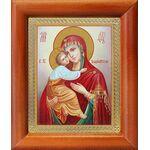 Владимирская икона Божией Матери, рамка 8*9,5 см - Иконы
