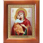 Владимирская икона Божией Матери, рамка 12,5*14,5 см - Иконы