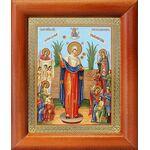 """Икона Божией Матери """"Всех скорбящих Радость"""" с грошиками, рамка 8*9,5 - Иконы"""