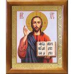 Спас Вседержитель в красном облачении, икона в рамке 17,5*20,5 см - Иконы