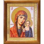 Казанская икона Божией Матери в красном облачении, рамка 17,5*20,5 см - Иконы